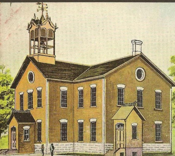Vintage Postcard Public School KEMPTVILLE Ontario 1908 Kars Ontario cancel