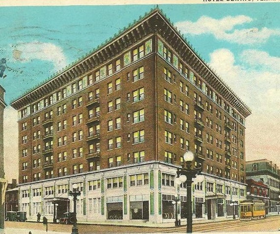 hotel deming terre haute indiana 1930 vintage postcard. Black Bedroom Furniture Sets. Home Design Ideas