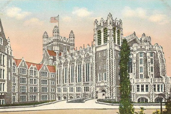 City College NEW YORK City unused vintage postcard Century Post Card and Novelty Co