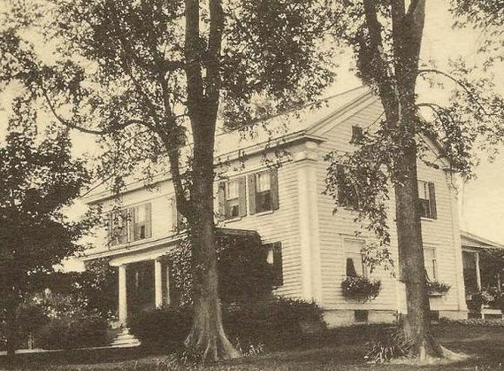 The Rocks SCHOHARIE New York - unused vintage postcard - Stately home or Inn
