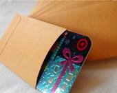 Coin Envelopes, Mini, Kraft Set of 50
