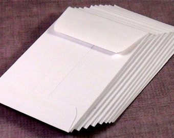 Coin Envelopes, Mini, White Set of 10