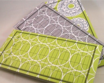 Money Envelope or Debit Card Balance Tracker and Receipt Holder, Stocking Stuffer -- Lime Green and Gray