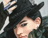 Adam Lambert portrait no. 11 - watercolor - print