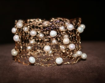 Infinite Love Gold and Pearl Bracelet