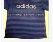 90s 80s vintage adidas crewneck tshirt