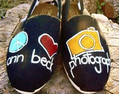 Custom hand Painted TOMS design, custom photography LOGO
