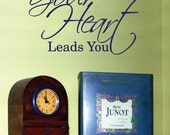 Vinyl Wall Expression- Walk where your heart leads you - INSP24