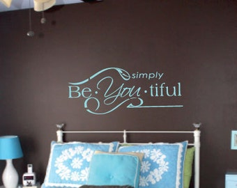 Vinyl Wall Expression- Simply BeYOUtiful (INSP19)