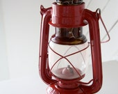 Vintage Candy Apple Red Oil Lantern with Chinese Characters