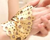 "Leather jewelry - Bracelet-glove ""Gularte"" (pair)"
