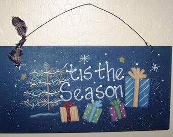 Tis the Season Sign Wooden Sign - Holiday Decor Christmas - Christmas Sign