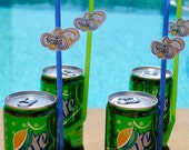 Pool Party Scuba Soda Straws