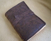 "Journal Steampunk Brown Rustic Diary or Scrapbook 6"" Width x 8"" Height - Made to Order"