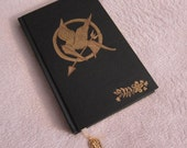 Journal or Sketchbook Handpainted Hunger Games Inspired READY to SHIP