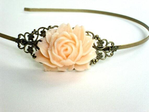 Brass headband wedding accessories resin rose cabochon, hair accessories,wedding bridesmaid bridal christmas headband wedding accessories