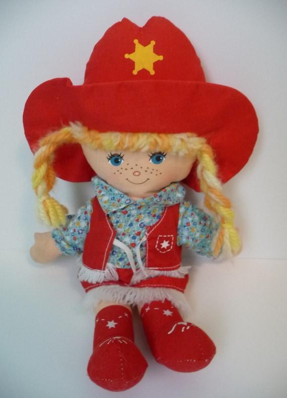 "Vintage Knickerbocker 12"" Cowpokes Cloth Doll Ruth Morehead"