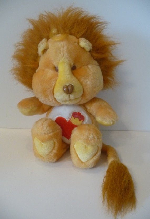 Care Bear Cousins Brave Heart Lion Plush Toy American Greetings 1984