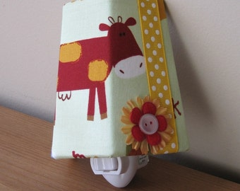 SALE!! Silly Red Cow - Children's - Night Light