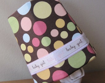 SALE!! Baby Girl - Chocolate and Pastel Polka Dots - Night Light