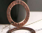 Rustic, Urban Mod Copper Hoop Earrings