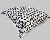 Pillow Cover African Tribal Ethnic Style with Black and White Geometrical Shapes