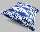 Blue Throw Pillow Cover - Blue and White Optical Illusion Home Decor, Pation Decor