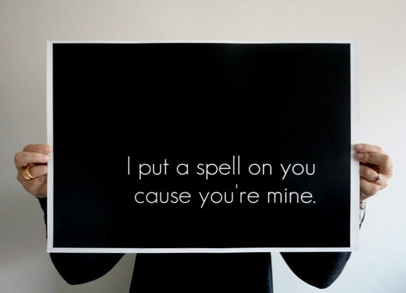 i put a speel on you letra