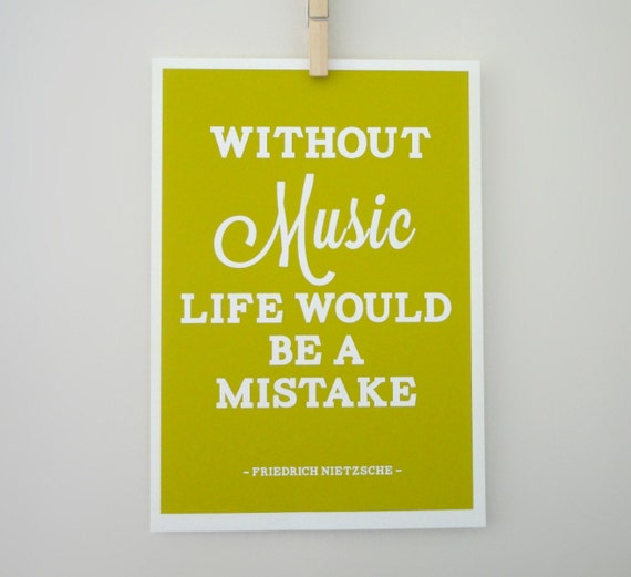 Friedrich Nietzsche Quote Life Without Music by ...