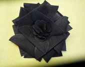 Silk Fabric Flower Pin - Special Hand-Made Ironed Origami Flower
