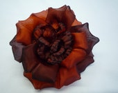 Silk Fabric Flower Pin - Hand-Dyed Autumn Flower Gorgeous Colors