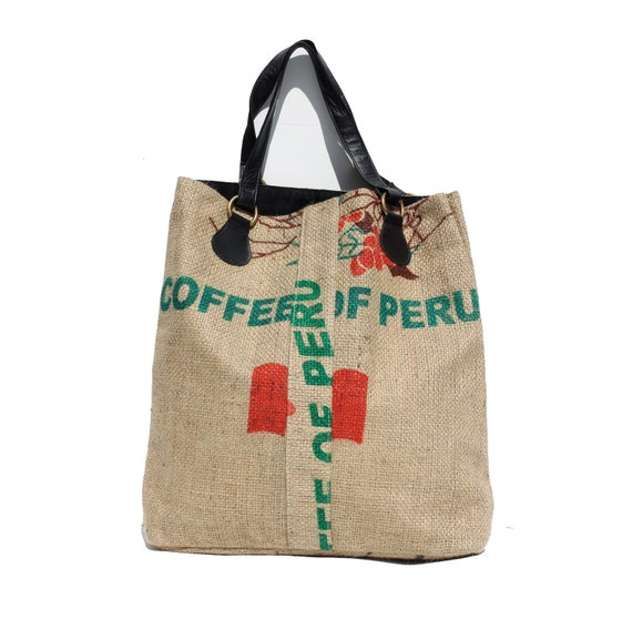 One of a Kind Burlap Tote