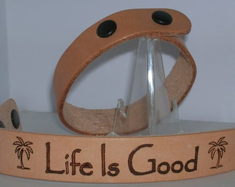 Custom Engraved Leather Bracelet