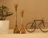Jack and Jill...a pair of vintage brass candlesticks