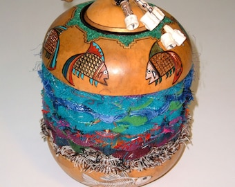 Down Deep,  gourd with fish design