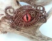 alligator taxidermy glass eye copper wrapped wire
