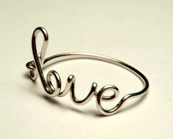 Love Ring - sterling silver wire