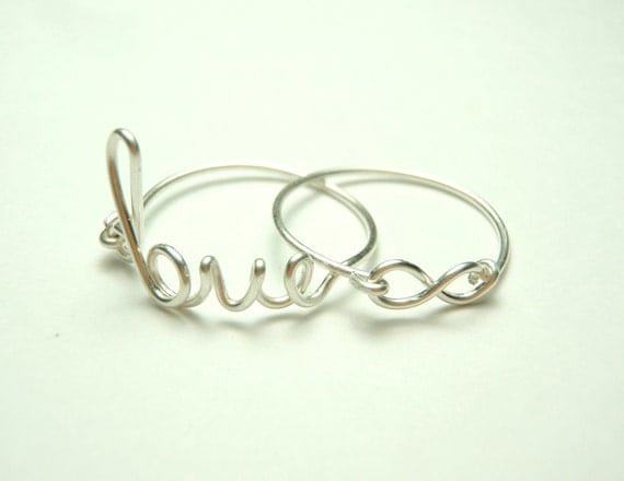 Infinity love ring, Infinity love jewelry, handmade sterlin silver rings