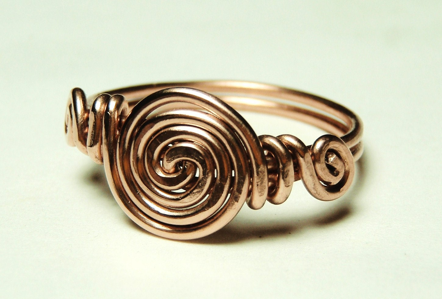 curls copper wire ring custom size 5 to 12 handmade by keoops8