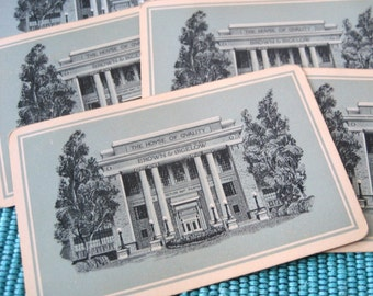 6 Greek Revival House Vintage Playing Cards