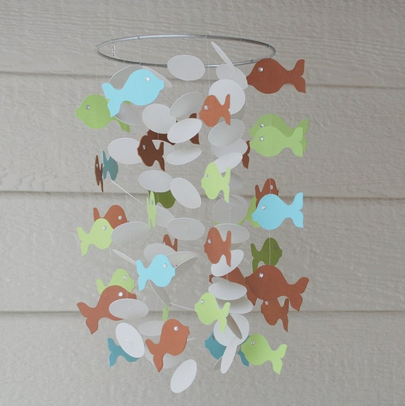 Adorable Paper Fish Mobile