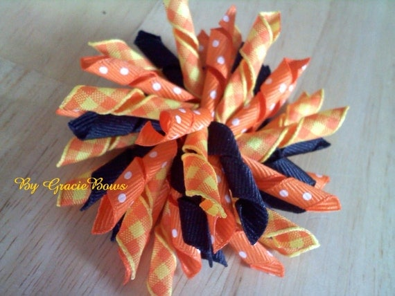 Pumpkin Patch Korker Bow