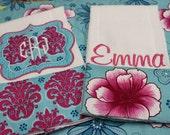 Custom Burp Cloth Set