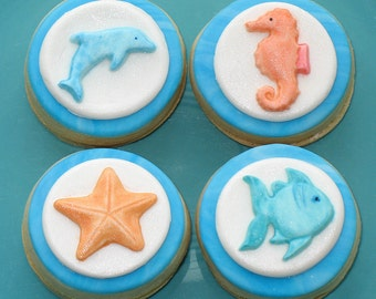 Under The Sea Petite Sandwich Cookies - One Dozen