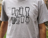 Mens Fashion// Beer Glass Types Mens Tshirt Size L