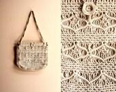 Boho Ivory Macrame Shoulder Bag