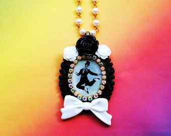 Fred Astaire Dance Cameo Necklace