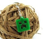 Minecraft Creeper Keychain / Cell phone Charm