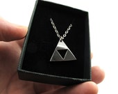 Legend of Zelda Triforce Necklace - 1in size - Handmade from Stainless Steel - Fit for Men and Women