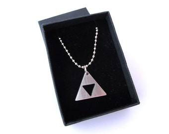 Zelda Trifoce Chain - 25mm - MATTE Stainless Steel - 60cm ball chain